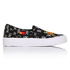 Слипоны детские DC Trase Slip-on Black/White/Red