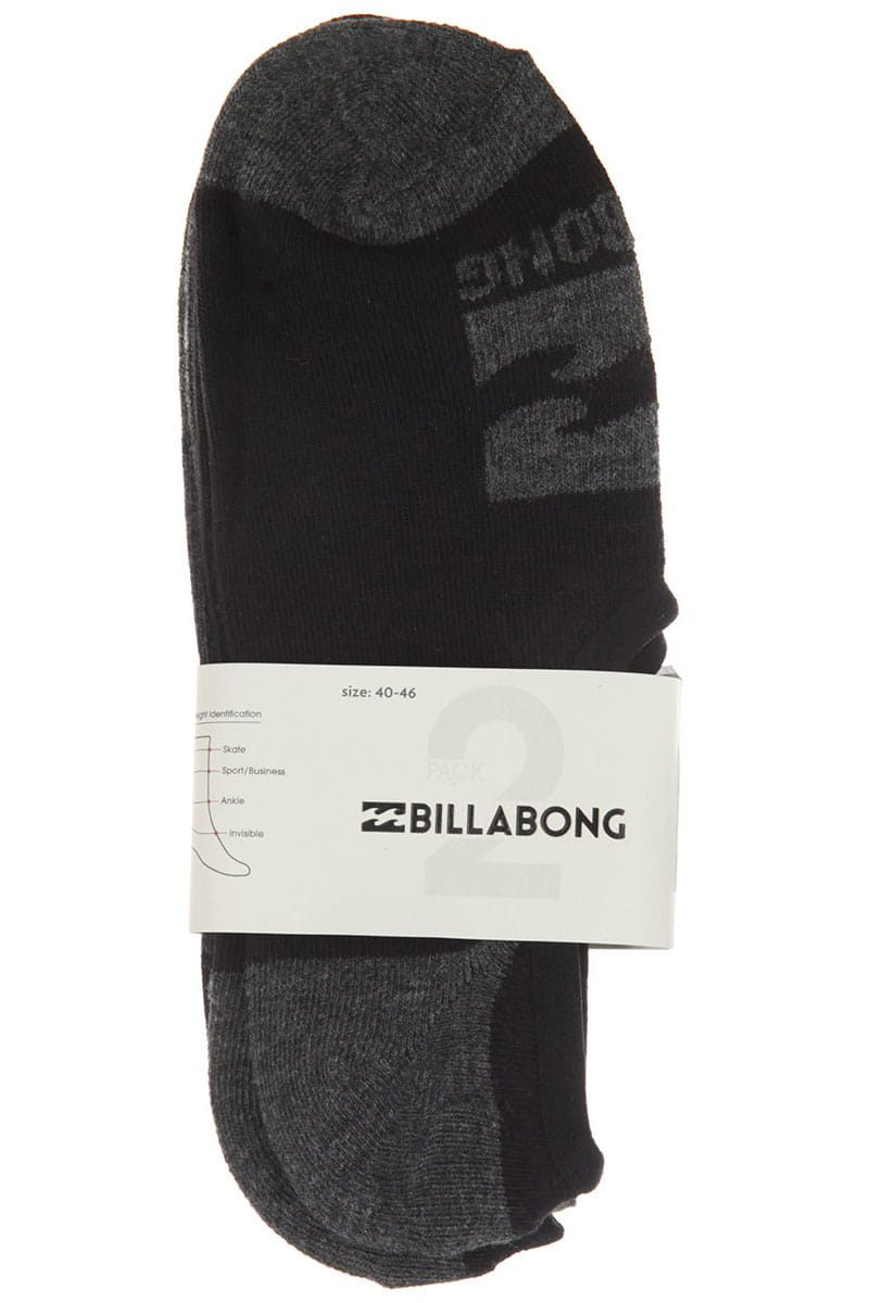 Носки Billabong Invisible 2 Pack Assorted