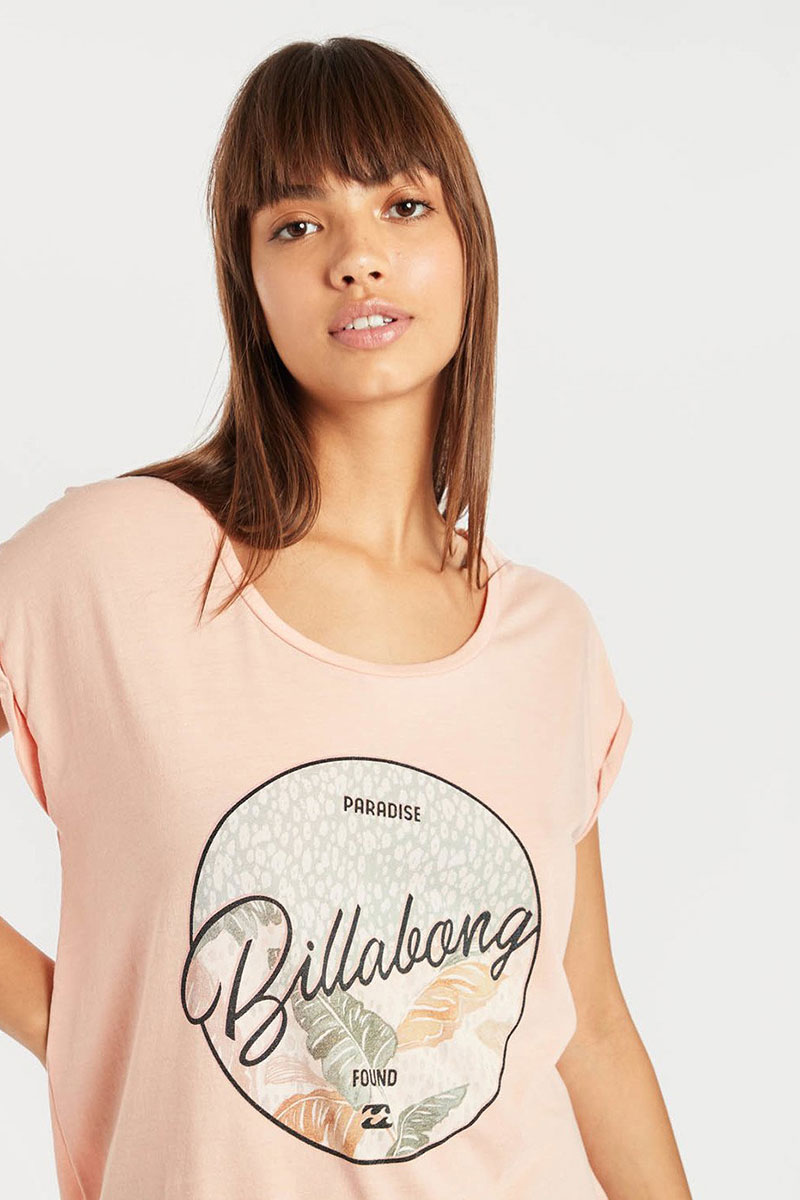 Футболка женская Billabong All Night Tee Rose Quartz