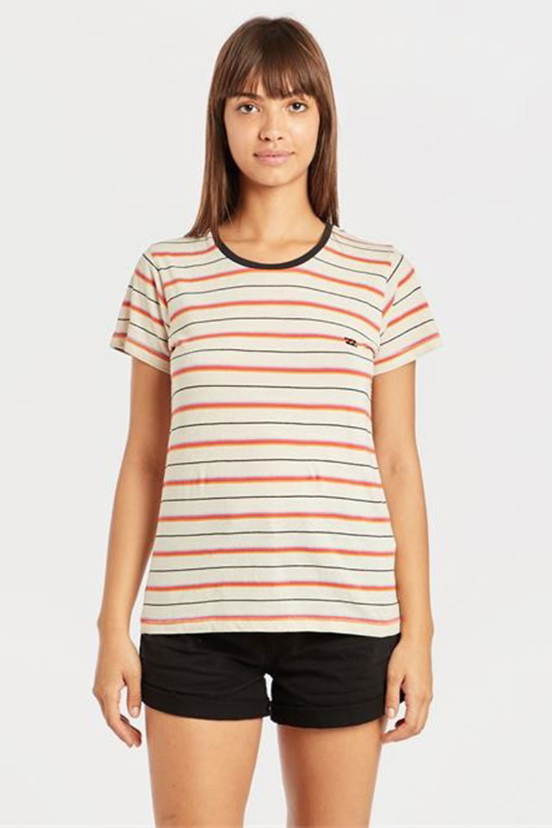 Футболка женская Billabong Soul Babe Whitecap Stripe