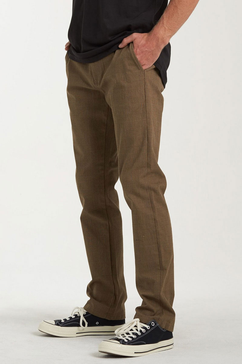 Штаны прямые Billabong Carter Yarndye Chino  Khaki