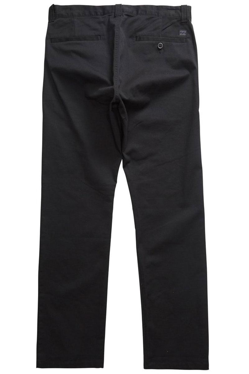 Штаны прямые Billabong Carter Stretch Chino Black-20