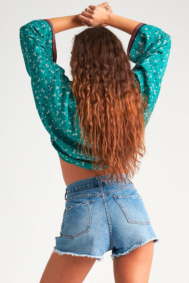 Блузка с принтом Back Round