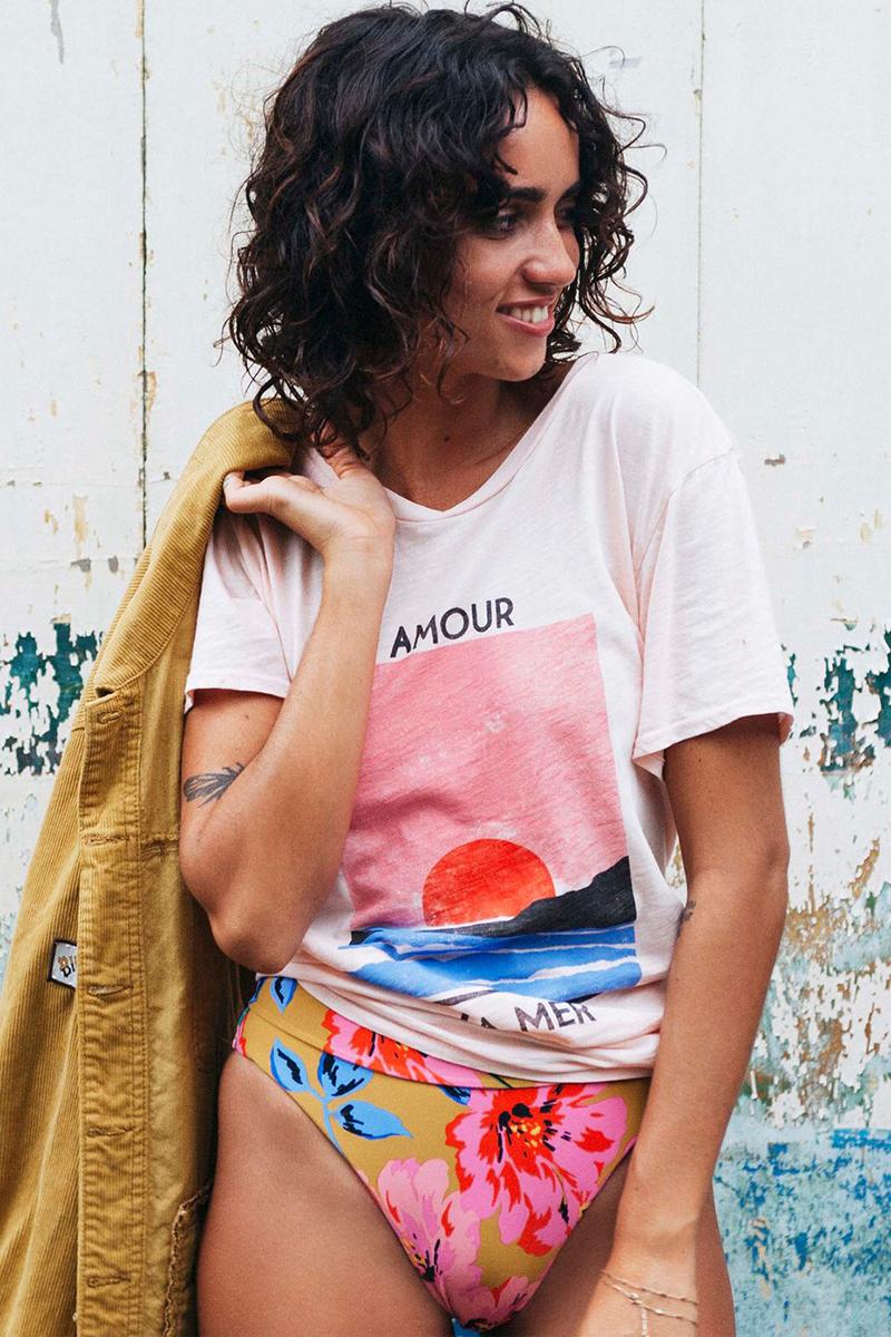 женская Billabong Футболка (фуфайка) Amour La Mer Barely Blush