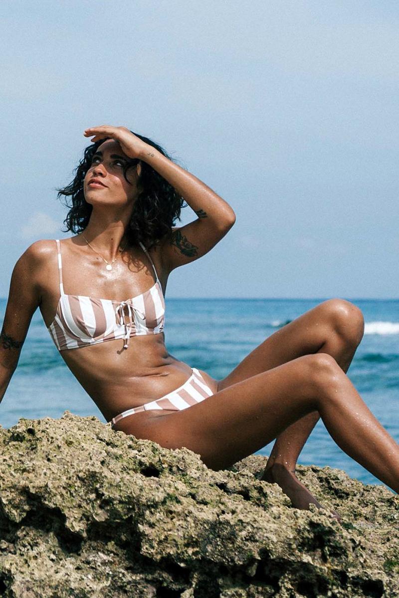 Бюстгальтер женский Billabong Shady Sands Bralette Khaki Sand