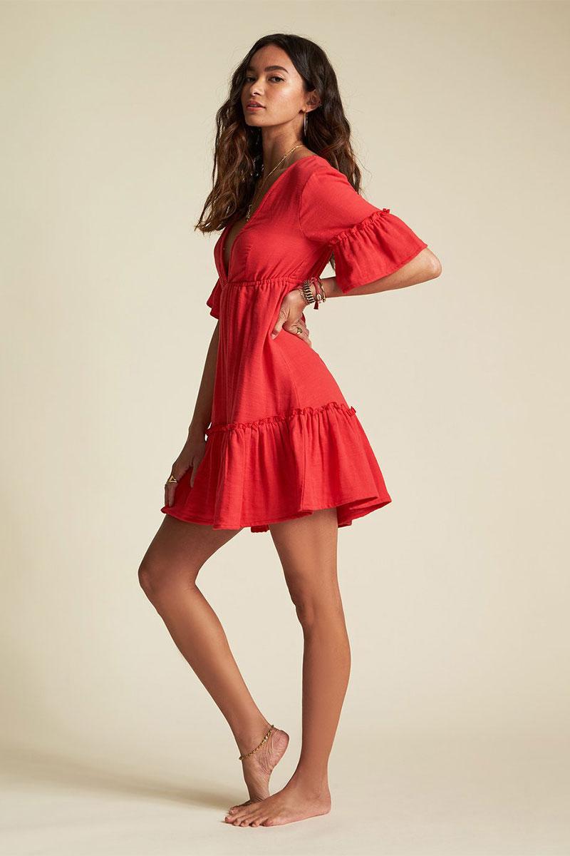 Платье-мини с коротким рукавом Lovers Wish