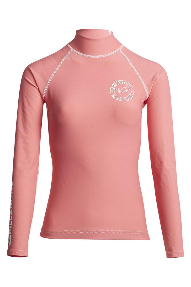 Футболка женская Billabong Для Плавания Logo In Ls Coral Kiss