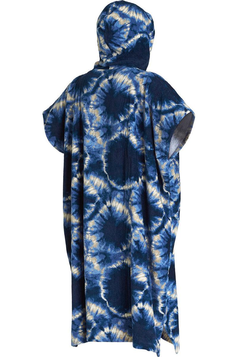 Пончо Billabong Hooded Poncho Blue Tie Dye