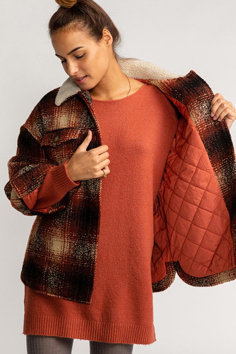 Шерстяная женская куртка Lucky