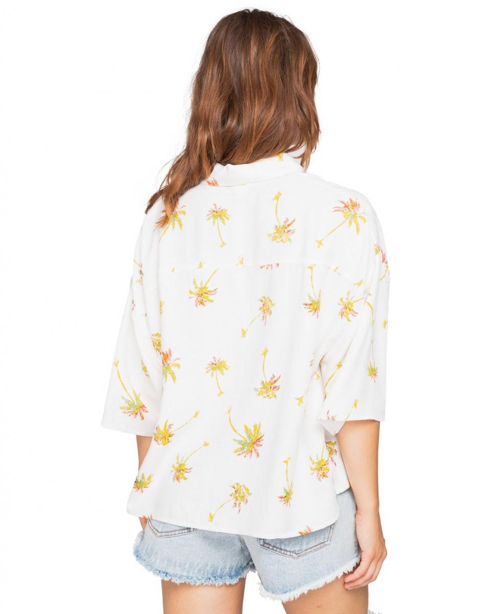 Женская рубашка оверсайз с короткими рукавами Isa Island