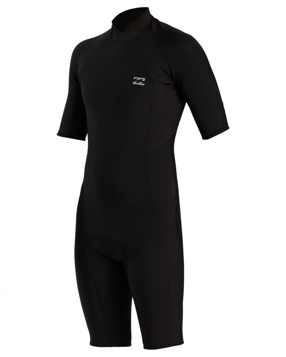 Мужской гидрокостюм с молнией на спине и короткими рукавами Absolute (2/2 мм)