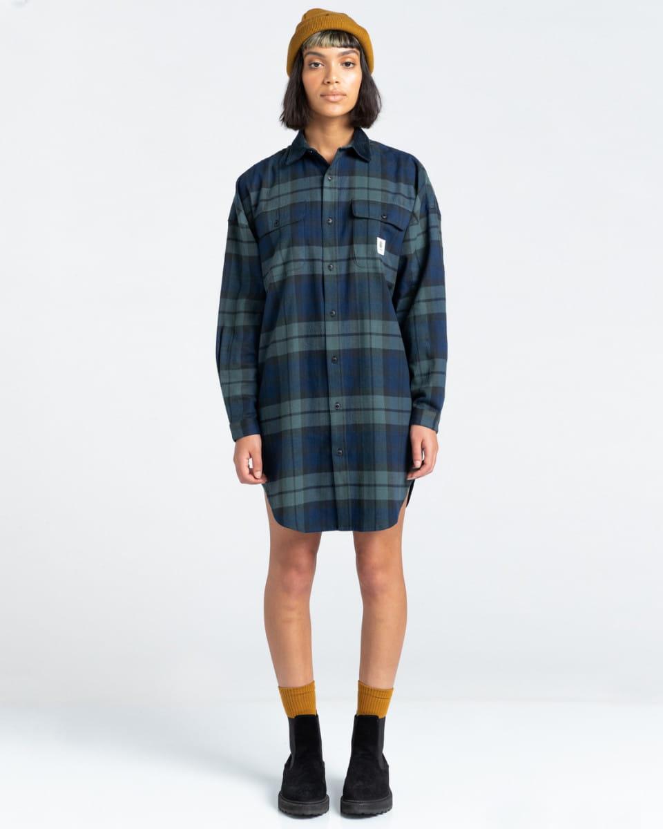 Жен./Одежда/Платья и комбинезоны/Платья Женское платье-рубашка Lane Check