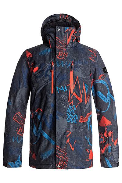 Куртка сноубордическая Quiksilver Mission Pr Mandarin Red Thunder3