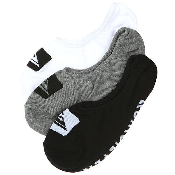 Черные мужские носки-невидимки (3 пары) quiksilver