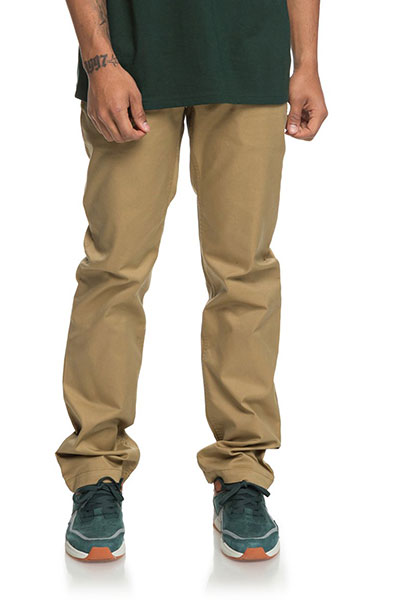 Штаны прямые DC Worker Straight Khaki3