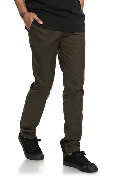 Штаны узкие DC Worker Slim Dark Olive1