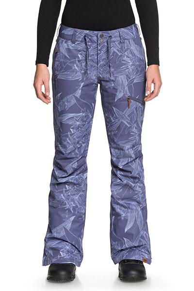 Штаны сноубордические женские Roxy Nadia Printed Crown Blue_washed Fl1