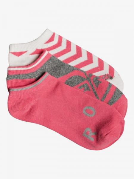 Коралловые женские короткие носки (3 пары) roxy