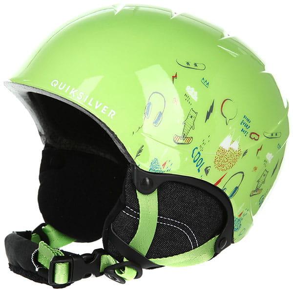 Шлем для сноуборда детский QUIKSILVER The Game Lime Green moam Tatt3