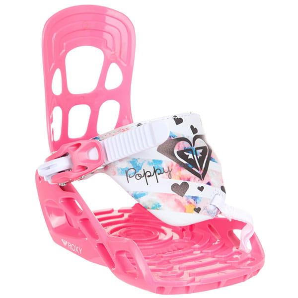Крепления для сноуборда женские Roxy Poppy Bind Pink
