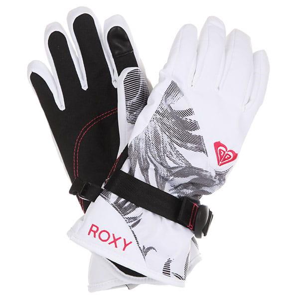 Перчатки сноубордические женские Roxy Rx Jetty Gloves Bright White swell F