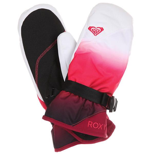 Варежки сноубордические женские Roxy Jetty Se Tea Berry wave Gradi