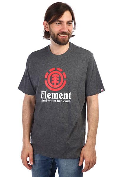 Серый мужская футболка с короткими рукавами vertical
