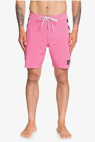 """Розовый мужские бордшорты echo beach checker 18"""""""