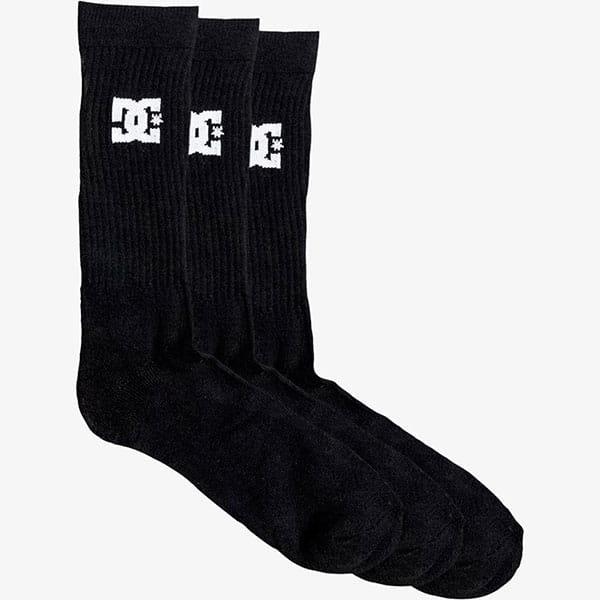 Черные высокие носки (3 пары)