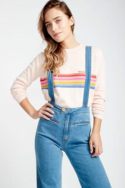 Жен./Одежда/Джинсы и брюки/Джинсы широкие и расклешенные Комбинезон джинсовый Billabong High Of Summer
