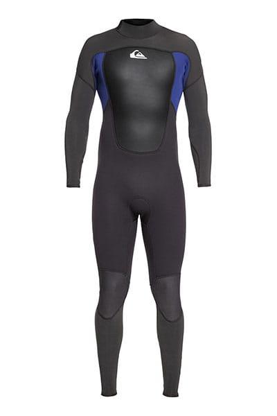 Черный мужской гидрокостюм с молнией на спине 3/2mm prologue