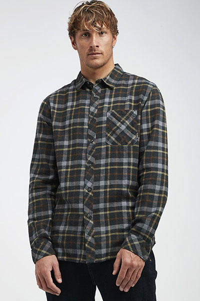 Рубашка в клетку Q1SH13-BIF9 Black