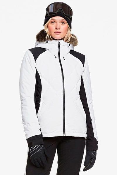 Белый женская сноубордическая куртка breeze mountain