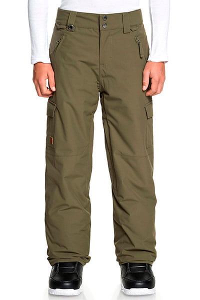 Зеленый детские сноубордические штаны porter