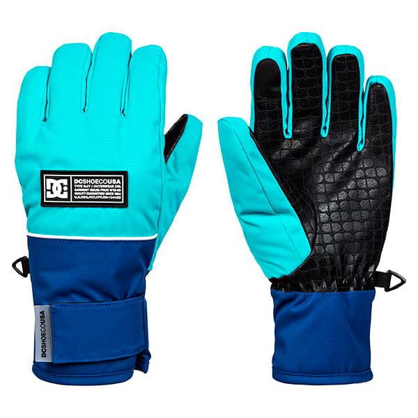 Голубые детские сноубордические перчатки franchise