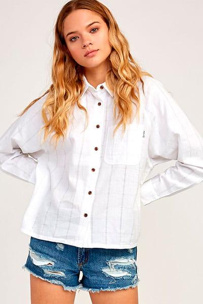 Белый рубашкас длинным рукавом