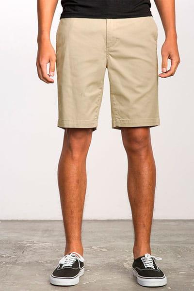 Бежевый мужские эластичные шорты weekend stretch