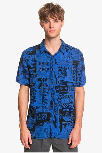 Мультиколор мужская рубашка с коротким рукавом fluid geo