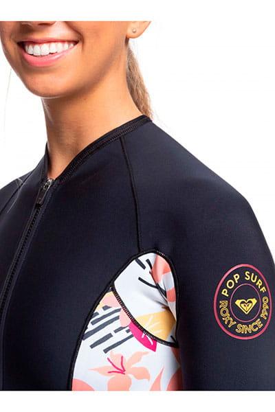 Жен./Одежда/Гидрокостюмы/Гидрокостюмы Женский гидрокостюм с длинными рукавами и молнией на груди Roxy 1.5mm POP Surf
