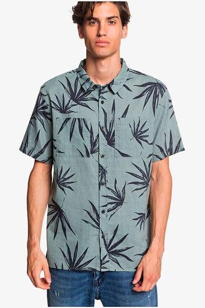 Мультиколор мужская конопляная рубашка с коротким рукавом deli palm