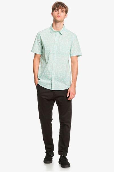 Муж./Одежда/Рубашки/Рубашки с коротким рукавом Мужская рубашка с коротким рукавом Dots Flower