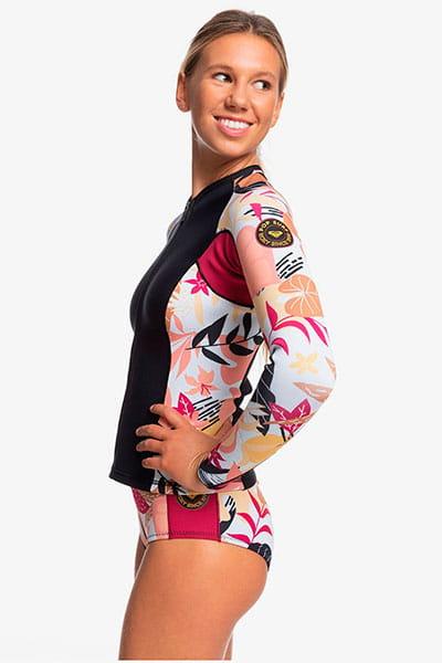 Жен./Одежда/Гидрокостюмы (верх)/Гидрокостюмы (верх) Женская неопреновая куртка с молнией на груди Roxy 1mm POP Surf