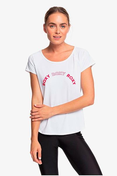 Персиковый женская спортивная футболка keep training