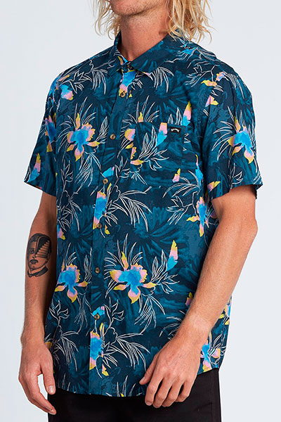 Муж./Одежда/Рубашки/Рубашки с коротким рукавом Рубашка с коротким рукавом Sundays Floral