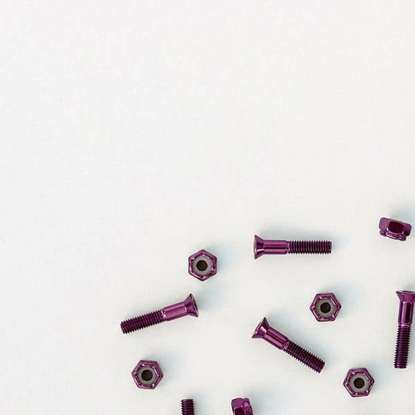 /Скейтборд/Винты/Винты Комплект винтов Footwork SHINY PURPLE шестигранник, с ключом