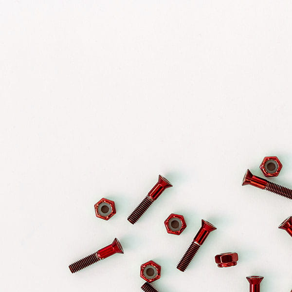 /Скейтборд/Винты/Винты Комплект винтов Footwork SHINY RED шестигранник, с ключом