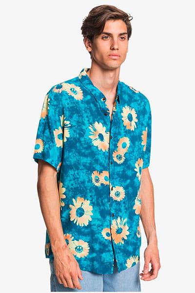 Мультиколор мужская рубашка с коротким рукавом daisy spray