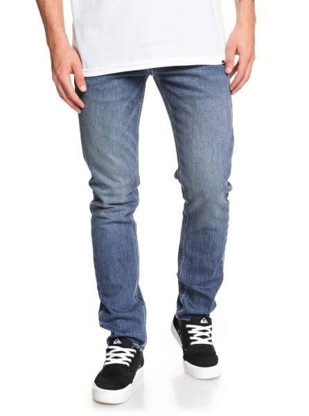 Зеленый мужские узкие джинсы distorsion medium blue