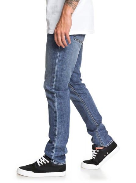 Муж./Одежда/Джинсы и брюки/Зауженные джинсы Мужские узкие джинсы Distorsion Medium Blue