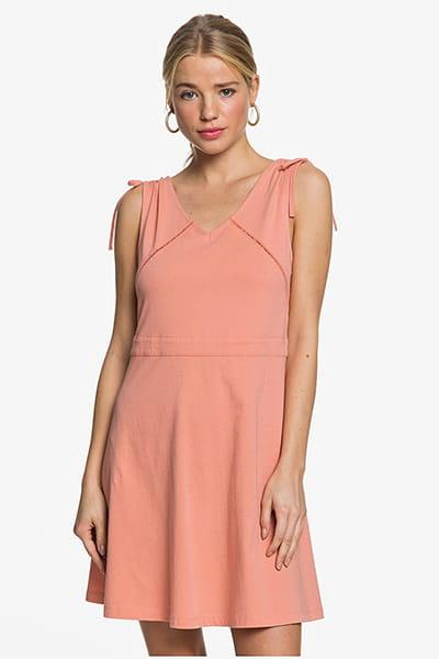 Оранжевый женское платье без рукавов spellbound wave